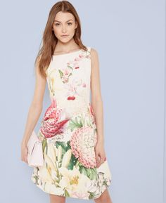 Encyclopaedia Floral pleated dress