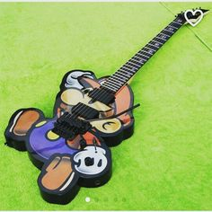 Thanks to our fan and friend Tyler for helping to pick our managing director's next #guitar ! #mario / #papermario FTW! #spiderhandspnz