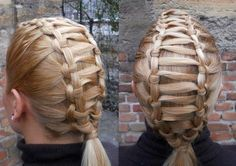 Intricate knotted braid