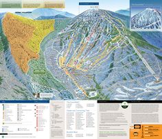 Sugarloaf ski area map, Maine. Snow stay for me till March, can't wait!!
