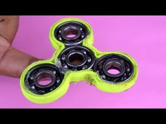 WN - how to make a spinner fidget toy . diy hand spinner. simple homemade 5 minutes