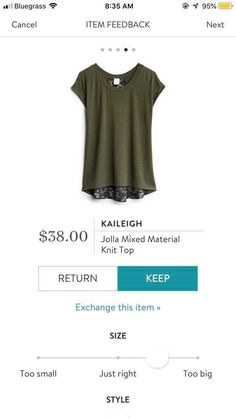 LOVE this-green is my favorite color and I adore lace. Casual Outfits, Cute Outfits, Casual Clothes, Winter Clothes, Stitch Fix Fall, Stitch Shirt, Stitch Fix Outfits, Stitch Fix Stylist, All About Fashion