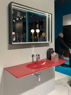 See the latest from leading Brands, Architects, Designers and Art Directors Design Trends, Bathroom Lighting, Architects, Designers, Interior Design, Mirror, Red, Furniture, Home Decor