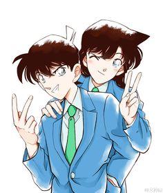 Shinichi Kudou And Ran Mouri Manga Detective Conan, Detective Conan Shinichi, Ran And Shinichi, Kudo Shinichi, Happy Tree Friends, Magic Kaito, Anime Demon, Anime Manga, Cute Anime Coupes