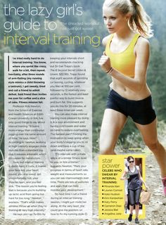 the lazy girl's guide to interval training