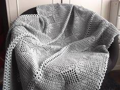 Crochet pattern Romantic blanket/bedspread by BlageCrochetDesign
