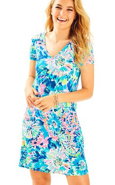 07285e21cd312 LILLY PULITZER JESSICA SHORT SLEEVE DRESS.  lillypulitzer  cloth   Floral  Prom Dresses