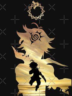 """""""Meliodas - Seven Deadly Sins"""" T-shirt by Blason Top 5 Anime, All Anime, Anime Love, Anime Art, Seven Deadly Sins Tattoo, Seven Deadly Sins Anime, Anime Angel, Demon King Anime, 6 Chakra"""
