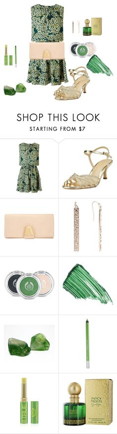 """""""Date Night"""" by chauert ❤ liked on Polyvore featuring Maison Scotch, John Lewis, The Body Shop, By Terry, Urban Decay, Tata Harper and Jessica Simpson"""