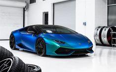 Download imagens Lamborghini Huracan, 2017, azul verde supercarro, carros esportivos, pérola de filme para carros, Italiana de carros esportivos, Lamborghini