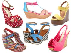 Awesomely Affordable: Colorful Wedge Sandals