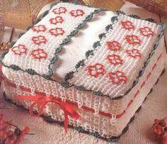 Magic Crochet № 135 - Marcia Ariela González - Álbuns da web do Picasa Crochet Box, Crochet Fabric, Crochet Gifts, Crochet Doilies, Crochet Flowers, Crochet Stitches Patterns, Crochet Designs, Tissue Box Covers, Tissue Boxes
