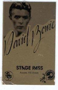 David Bowie Back Stags Pass All Areas