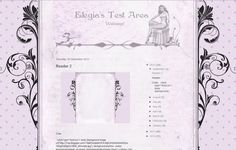 Elegia's Background Garden: Letter background and header