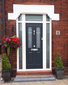 Take a look at the jobs completed by The Window Company including Conservatories, Doors, Sash Windows, and Windows in our Installations Gallery, Front Door Steps, Front Door Entrance, Front Door Colors, Front Entrances, Composite Front Doors Uk, Solidor Door, House Front Porch, Front Porches, Front Doors With Windows
