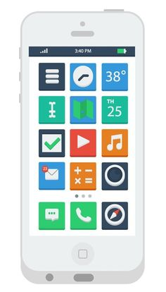 apps icon – Flat Design