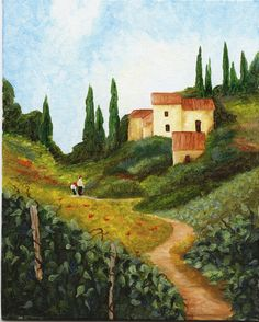 Tuscany, All Hills And Green, So Easy To Stay And Fall In Love, Being There Is Like Living A Dream~♥•✿ •♥•✿