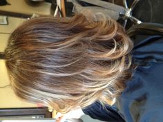 Ombré with highlights and lowlights