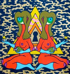 Secret Daydreem By Oliver Hibert || Art || In Twos || Gemini || Geminian || Ikizler || Gemelli || Astrology || Zodiac || Horoscope || Burcu || Design || Arte || Neon || Colors || Women || Breasts || Kadinlar || Renkler || Eyes || Gözler || Nazar || Funk || '60sMeets'90s || Triangle || Green Hair || Goblins || Robots || Monsters || Aliens