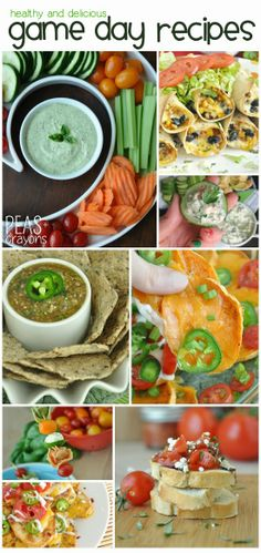 Healthy Vegetarian Game Day Eats -- perfect for Superbowl Sunday!