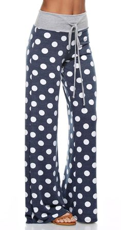 Spot On Pants 'Tis the season for getting cozy! These cheery bottoms are comfy not only for sleeping but for lounging around and having a Netflix night. Just add popcorn! Pair them with the Taylor Cami for lounge perfection and throw on your favourite sweatshirt.  Polka dots print Inseam 31 inches French terry fabric Fabric 60%cotton 35%nylon 5%spandex Made in U.S.A