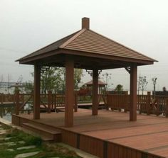 outdoor wpc pavilion、prefabricated outdoor pavilions residential