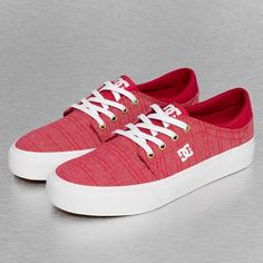 #DC #baskets #rouges #streetwear #sneakers