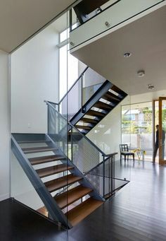 Stair House by David Coleman Architecture Nice open staircase materials Home Stairs Design, Home Interior Design, House Design, Studio Interior, Interior Paint, Open Staircase, Staircase Railings, Staircase Ideas, Staircase Decoration