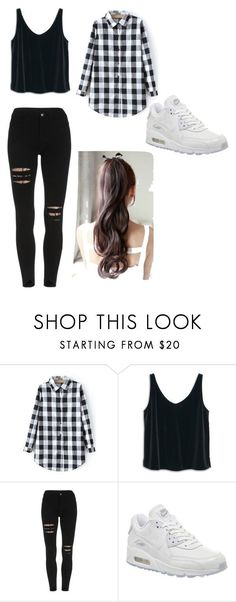 look para escola ! by tigresablack on Polyvore featuring MANGO, NIKE, womens clothing, women, female, woman, misses and juniors