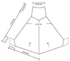 """Hometown - Poncho DROPS tricoté avec 1 fil """"Symphony"""", 1 fil """"Melody"""" ou 1 fil…"""