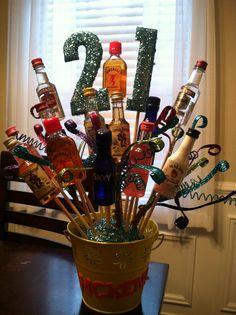 21st birthday shot bouquet I made :)