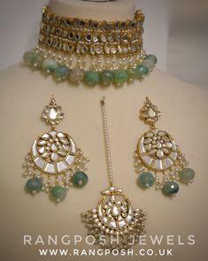 bridal jewelry for the radiant bride Indian Jewelry Earrings, Indian Jewelry Sets, Indian Wedding Jewelry, Bridal Jewelry Sets, Beaded Jewelry, Jewelery, Pakistani Jewelry, Royal Jewelry, Girls Jewelry