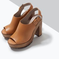 LEATHER SANDALS WITH TRACK SOLE-View all-Shoes-WOMAN | ZARA United States