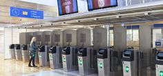Helsinki Airport is equipped with passport scanners that make border control procedures quick and easy.