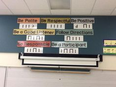 """What a smart idea and a great way to introduce rules. . .I have used this same concept in the past to teach students my name.  I write it on the board in """"musical code"""" (aka stick notation) and then we work to decode it together."""