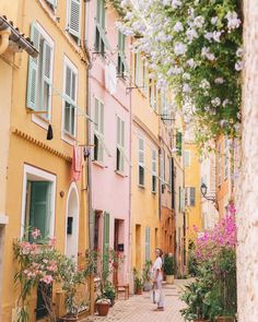 France, we love the pink and yellow buildings! They feel so magical and whimsical!