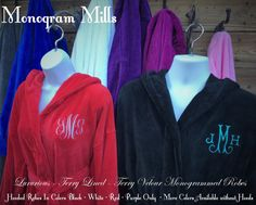 LUXURIOUS!!! - Terry Lined - Outside Fabric is Brushed Terry Velour All natural 100% cotton Terry Lined - Breathable Cotton - Not Synthetic! Brushed Terry - Velour On the Outside Lapel Collars - OR Hooded Robes  *********** Please Read Carefully: 4 Colors ONLY Available in these Colors:  Hooded Robes = Black, White, Red, Purple - Listed as = H Black, H white, H red, H Purple *************************** Non- Hooded Robes = Cool Grey - White, Royal Blue, Purple, Berry, Pink Bliss...