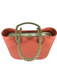 4c42b340d5 Papaya O Bag with Natural Canvas Insert and Natural Long Rope Handles O  Design