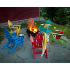 Classic Wood Folding Adirondack Chair
