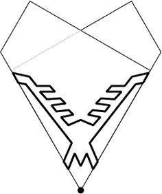 Paper pattern of snowflake10