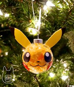 Otaku Crafts: Make Your Own Pokemon Ornament - Cards - Origami Pokemon Christmas Ornaments, Origami Christmas Ornament, Ornament Crafts, Christmas Crafts For Kids, Christmas Activities, Diy Christmas Ornaments, Christmas Tree Themes, Christmas Projects, Geek Decor