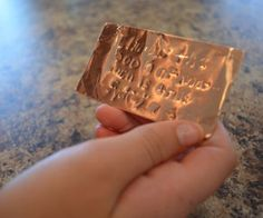 "Make Your Own ""Brass"" Plates 