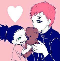 Gaara, Shikadai, teddy bear, cute; Naruto