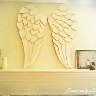 Hometalk :: My sister made these incredible angel wings out of cardboard and paper…