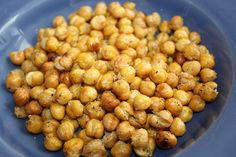 Crunchy roasted chickpeas -- easy, healthy snack!