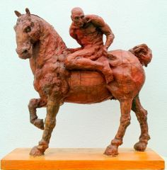 Javier Marin Polyester Resin Sculpture Caballo Monterrey (Horse) 1994 COA Mock up for larger bronze statue