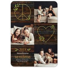Peace And Love Holiday Photo Card | Fine Stationery