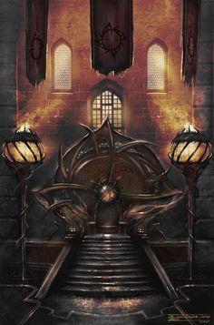 Digital art by Emile Denis #digitalart #gate #fantasy