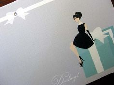 Breakfast at Tiffany's  Set of 20 Thank You by swankybristles, $50.00
