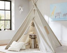 Campout indoors with this playroom teepee.